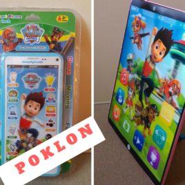 Paw Patrol 3D zabavni tablet na engleskom jeziku ROZE + POKLON