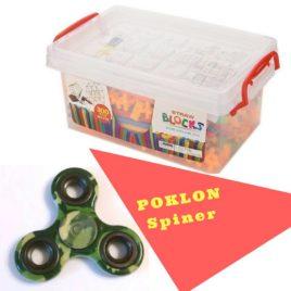 Bambuči konstruktor ( veliko pakovanje) + POKLON Spinner