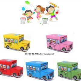 Autobus / Deciji tabure sa korpom za odlaganje igracaka