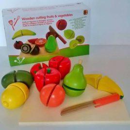 Voće i povrće za seckanje sa čičak trakom