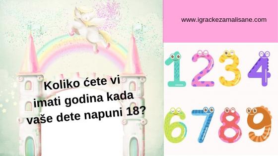 Koliko ćete vi imati godina?